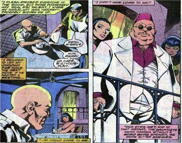 Comics Charles Xavier vs Amahl Farouk