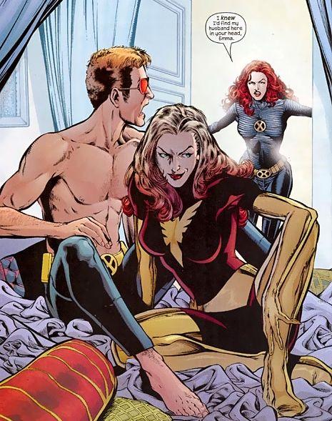 Comics Cyclope, Emma Frost et Jean Grey