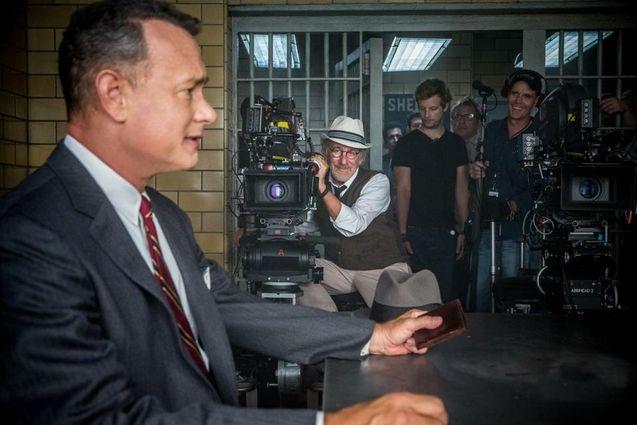 Photo tournage Tom Hanks, Steven Spielberg
