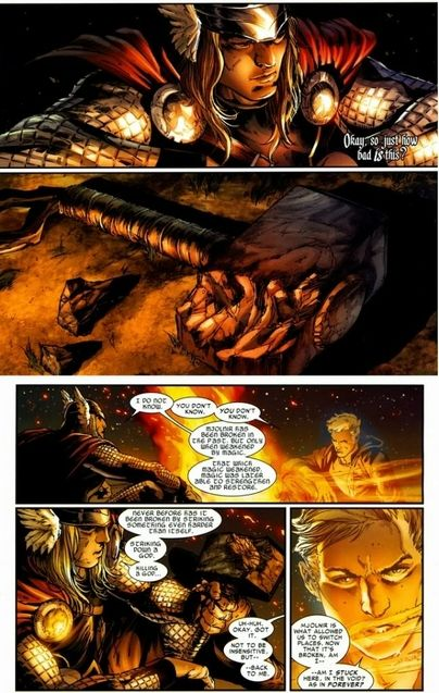 Comics Mjolnir cassé
