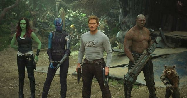 Photo Chris Pratt, Zoe Saldana, Dave Bautista, Karen Gillan