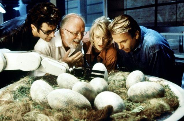 Photo Laura Dern, Sam Neill, Jeff Goldblum, Richard Attenborough