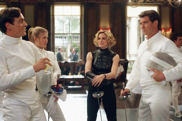 Photo Madonna, Pierce Brosnan, Rosamund Pike