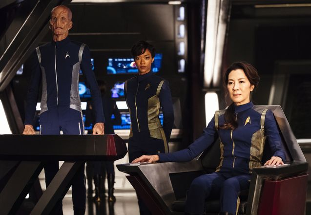 Photo Sonequa Martin-Green, Michelle Yeoh, Doug Jones