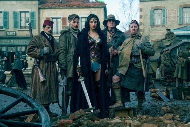 Photo Gal Gadot, Chris Pine, Saig Taghmaoui