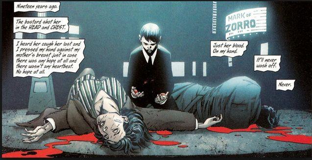 Comics La mort des parents de Bruce Wayne