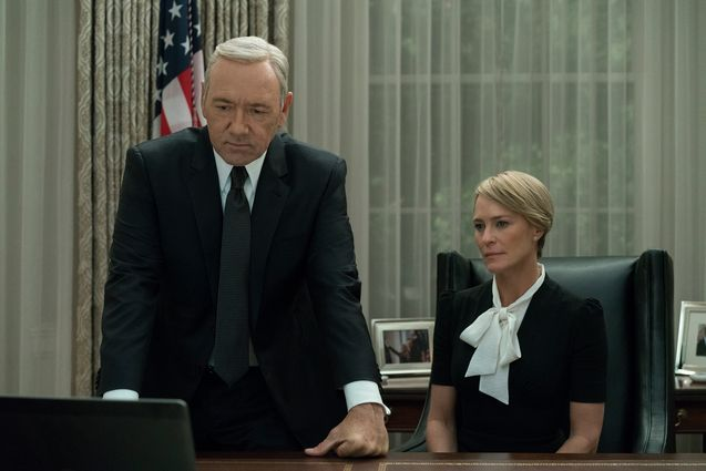 Photo Robin Wright, Kevin Spacey, House of Cards