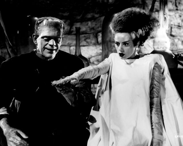 Photo Boris Karloff, Elsa Lanchester