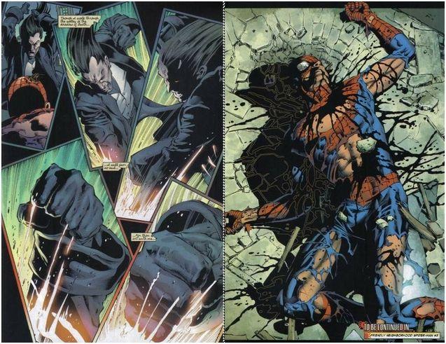 Comics Spider-Man vs Morlun