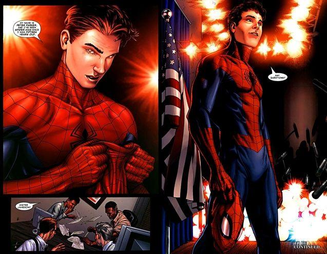 Comics, Spider-Man se démasque publiquement