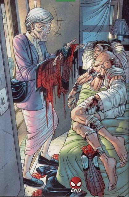 Comics Tante May apprend le secret de Peter