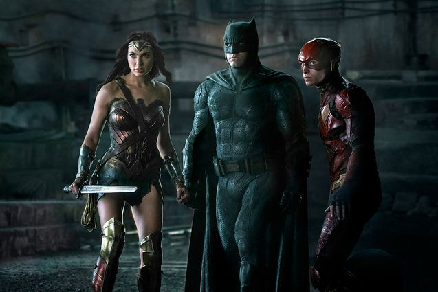 Photo Ben Affleck, Gal Gadot, Ezra Miller