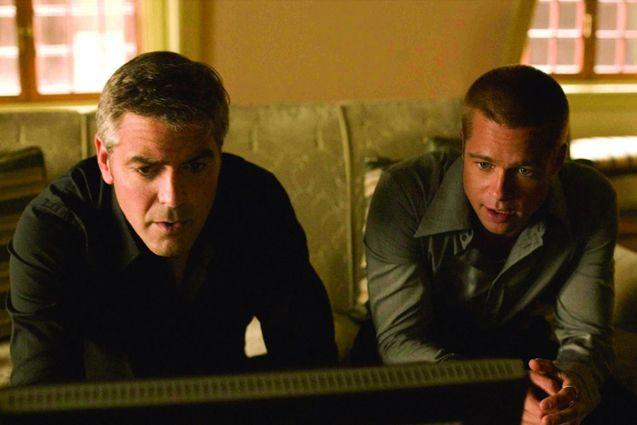 Photo Brad Pitt, George Clooney