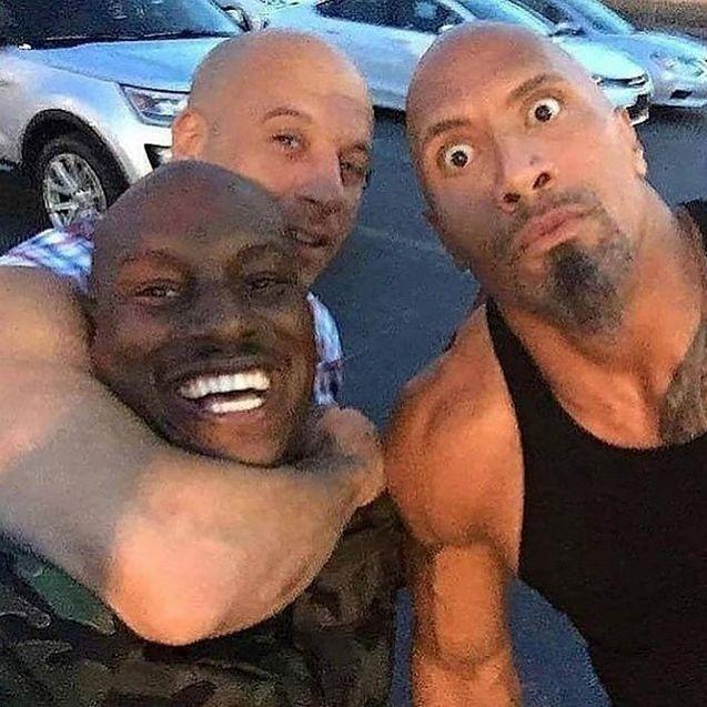 Photo Tyrese Gibson, Vin Diesel, Dwayne Johnson