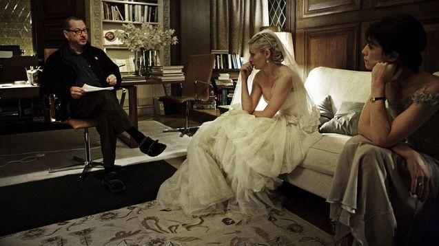 Photo Lars von Trier, Kirsten Dunst, Charlotte Gainsbourg