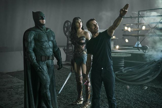 Photo Gal Gadot, Zack Snyder, Ben Affleck