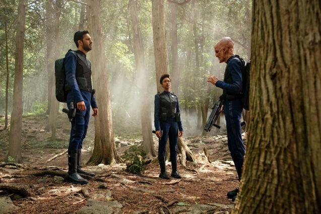 Photo Star Trek : Discovery, Sonequa Martin-Green, Doug Jones, Shazad Latif