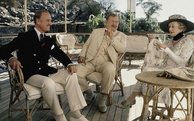 Photo David Niven, Peter Ustinov, Bette Davis