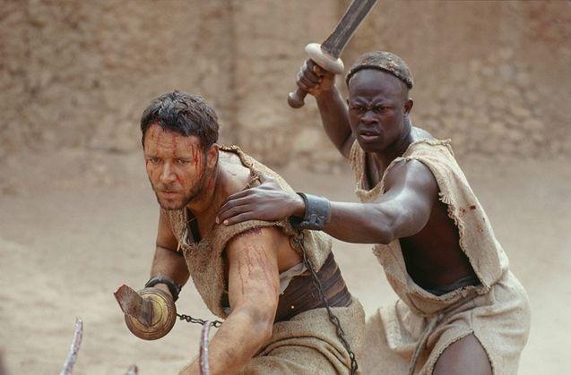 photo, Djimon Hounsou, Russell Crowe