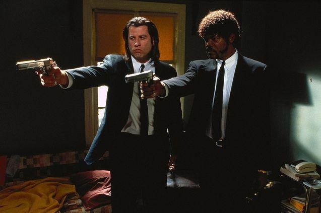photo, John Travolta, Samuel L. Jackson
