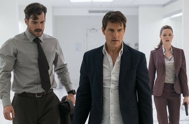 photo, Tom Cruise, Henry Cavill, Rebecca Ferguson