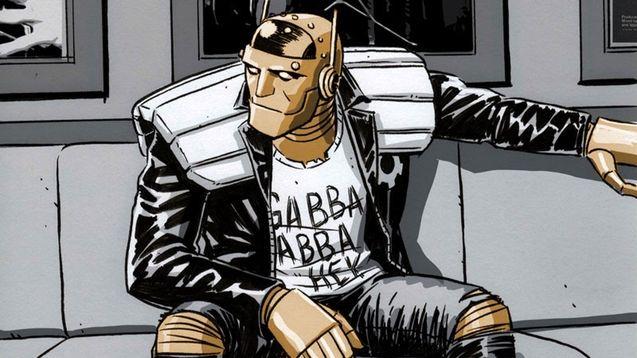 Photo, comics Robotman, Brendan Fraser