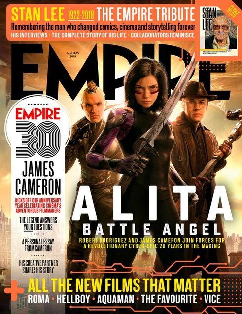 Couverture empire, Rosa Salazar, James Cameron, Robert Rodriguez