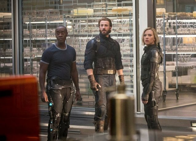 photo, Avengers : Infinity War, Don Cheadle, Chris Evans