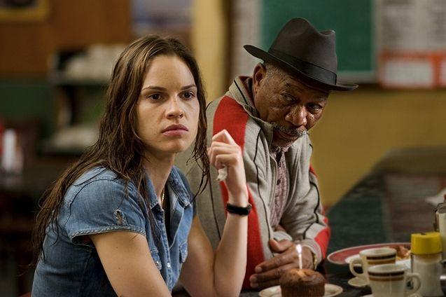 photo, Hilary Swank, Morgan Freeman
