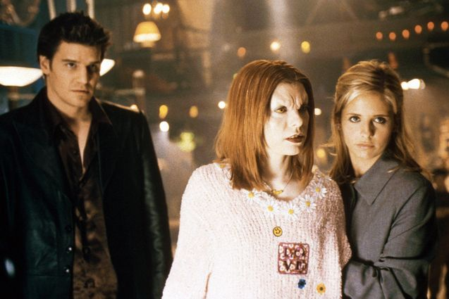 photo, Sarah Michelle Gellar, David Boreanaz, Alyson Hannigan