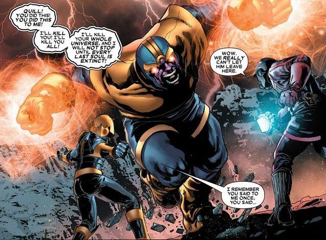 Star Lord, Thanos, Nova