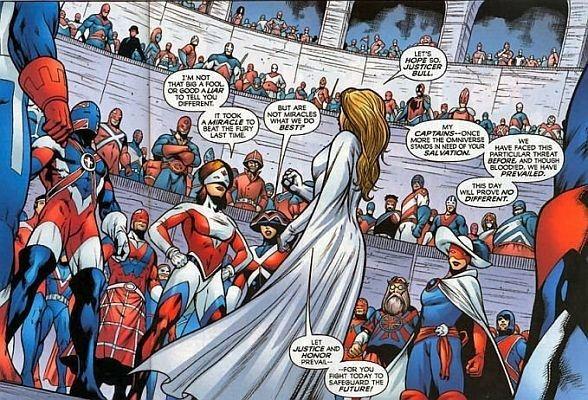 comics Captain Britain Corps