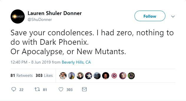 Tweet Lauren Shuler Donner