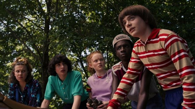 photo, Finn Wolfhard, Caleb McLaughlin, Noah Schnapp
