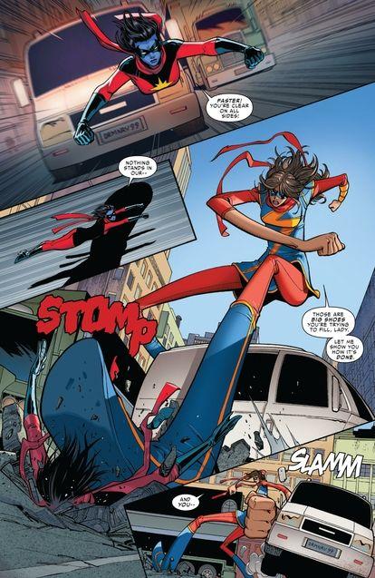 Ms Marvel vs Minerva