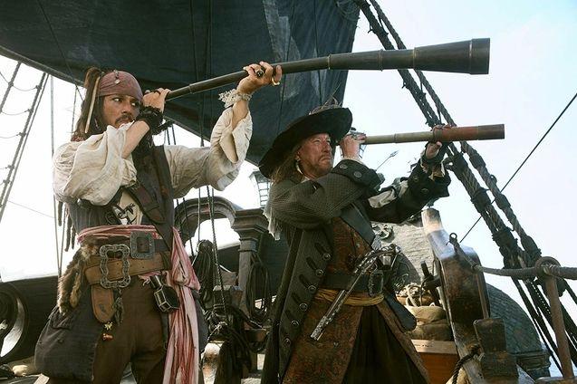photo, Johnny Depp, Geoffrey Rush