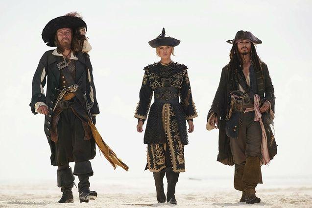 photo, Johnny Depp, Keira Knightley, Geoffrey Rush