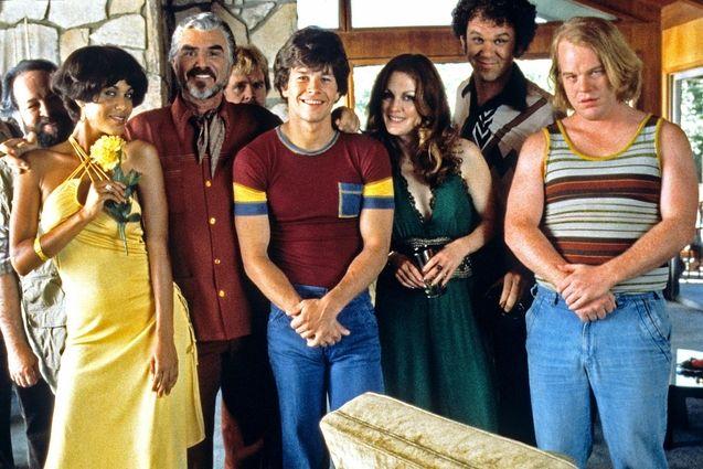 Photo Burt Reynolds, Mark Wahlberg, Julianne Moore, John C. Reilly, Philip Seymour Hoffman