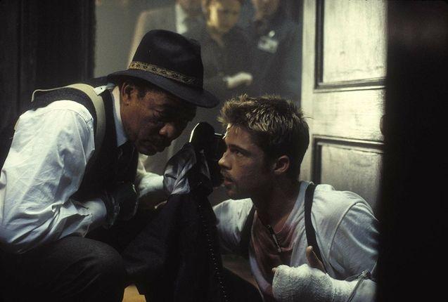 photo, Brad Pitt, Morgan Freeman