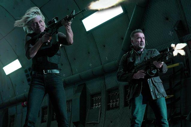 photo, Linda Hamilton, Arnold Schwarzenegger