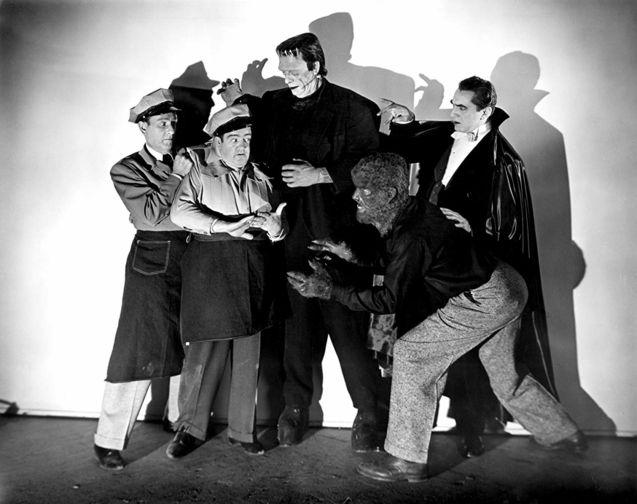 photo, Bela Lugosi, Lon Chaney Jr.