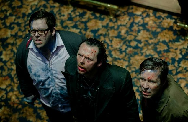 photo, Simon Pegg, Nick Frost, Paddy Considine