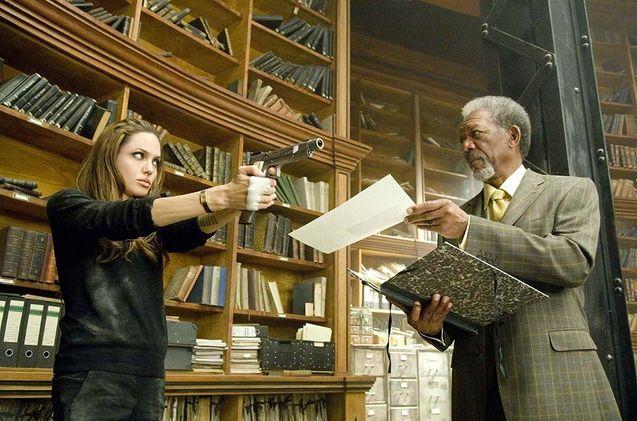 photo, Angelina Jolie, Morgan Freeman