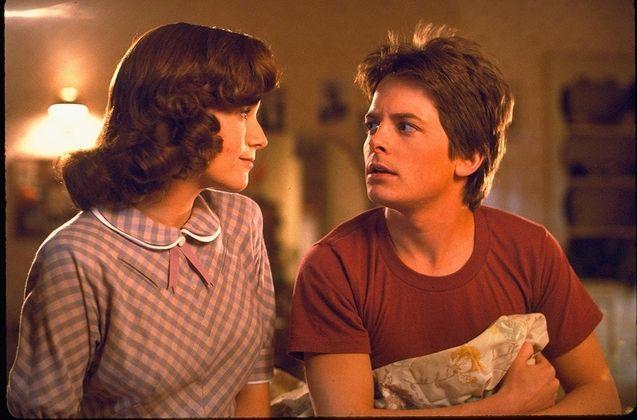 photo, Lea Thompson, Michael J. Fox