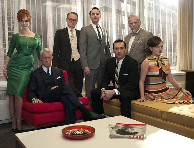 photo, Jon Hamm, John Slattery, Christina Hendricks, Elisabeth Moss, Vincent Kartheiser, I Robert Morse