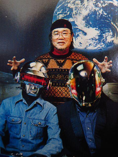 Photo Leiji Matsumoto, Guy-Manuel De Homem-Christo, Thomas Bangalter