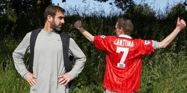 photo, Eric Cantona, Steve Evets