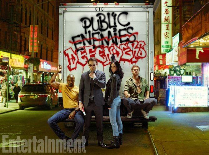 Les super-héros MArvel de Netflix prennent la pose — The Defenders